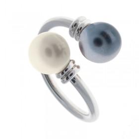 Sortija White&Gray Pearl