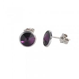 Pendientes Purple Swarovski